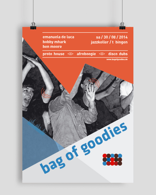 Flyer bag of goodies am 30.08.2014 im Jazzkeller, Tübingen